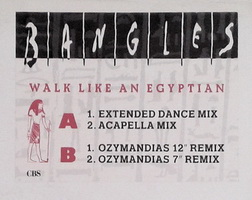 Bangles - Walk Like an Egyptian (White Label)