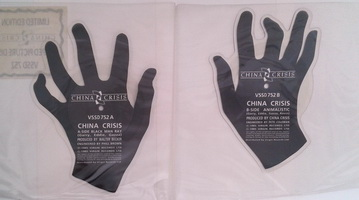 China Crisis - Black Man Ray Shaped Picture Discs B Side