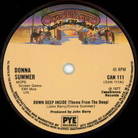 Donna Summer - Down Deep Inside single spindle label
