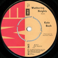 Kate Bush - Wuthering Heights 7 inch label