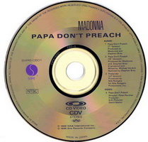 Madonna - Papa Don't Preach CD-Video Disc