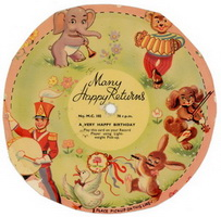 Many Happy Returns Cardboard Flexi Disc