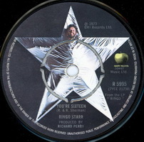 Ringo Starr - You're Sixteen 7 Inch Record Label
