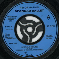 Spandau Ballet - Muscle Bound 7 inch single with adapter Label