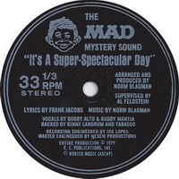 The MAD Mystery Sound - It's A Superspectacular Day Flexi Disc Label
