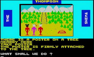 Thompson Twins - Adventure Game Screen Shot